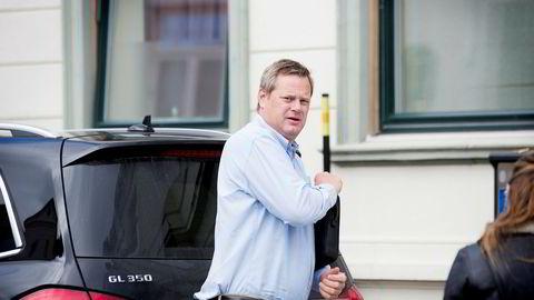 Krafttrader Einar Aas på vei til et møte i Kristiansand i august 2016.