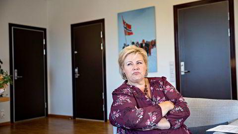 Statsminister Erna Solberg mener Ap-leder Jonas Gahr Støre bør anerkjenne hvor godt det går i Norge, spesielt nordpå der hun mener Støre feilaktig tegner et dystert bilde av tilstanden.