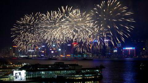 Hongkong er det mest populære reisemålet i 2018. Her fra nyttårsaften i 2012.