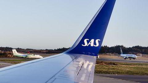 Flyselskapet SAS fikk ingen drahjelp av juletrafikken i desember. Foto: Per Thrana