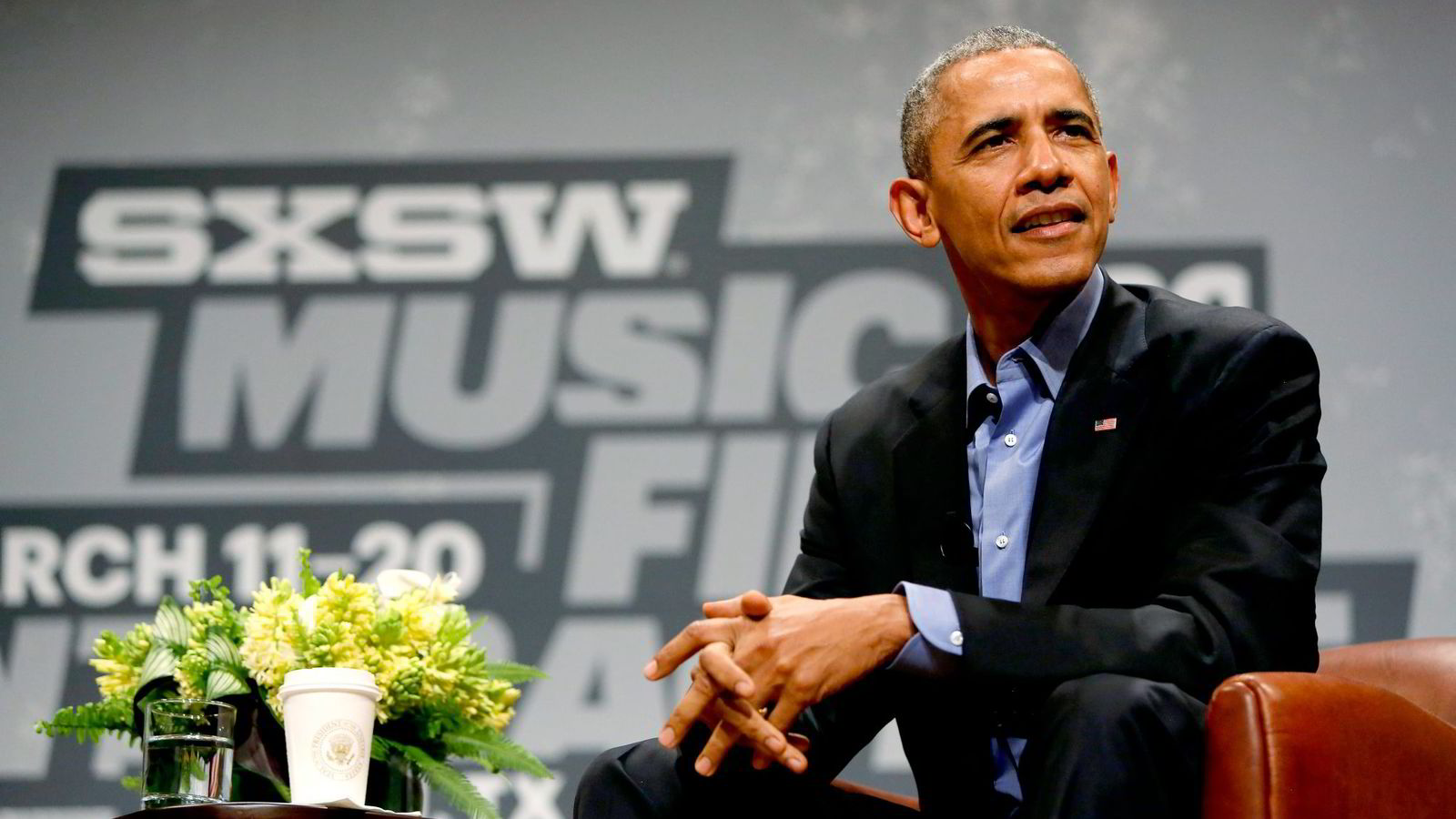 Barack Obama besøkte i år teknologimessen South By Southwest. Foto: Jonathan Ernst/Reuters/NTB Scanpix