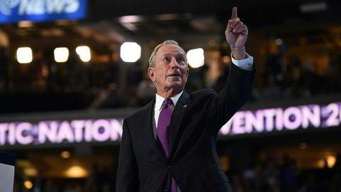 Tidligere New York-ordfører Michael Bloomberg var en av mange som gikk hardt ut mot Donald Trump da han talte på demokratenes landsmøte natt til torsdag norsk tid. Foto: Robyn Beck/AFP photo/NTB scanpix
