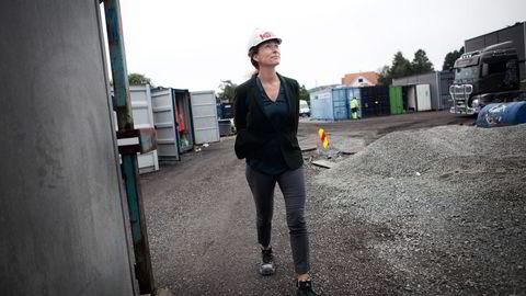 Eiendoms- og entreprenørkonsernet Kruse Smith skal bygge 24 leiligheter i et byggeprosjekt i Stavanger. – Vi har allerede 250 interessenter på listen før salget har startet, sier styreleder Sissel Leire. Foto: Tomas Alf Larsen