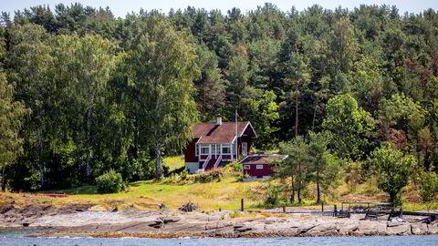 Lindøya-eiendommen med drøyt 50 meter strandlinje kan true tidligere prisrekorder, tror eiendomsmegler Marius Berger.