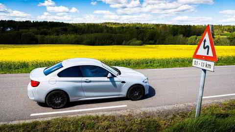 BMW M2 Competition får 160.000 kroner i avgiftsrabatt fra nyttår.