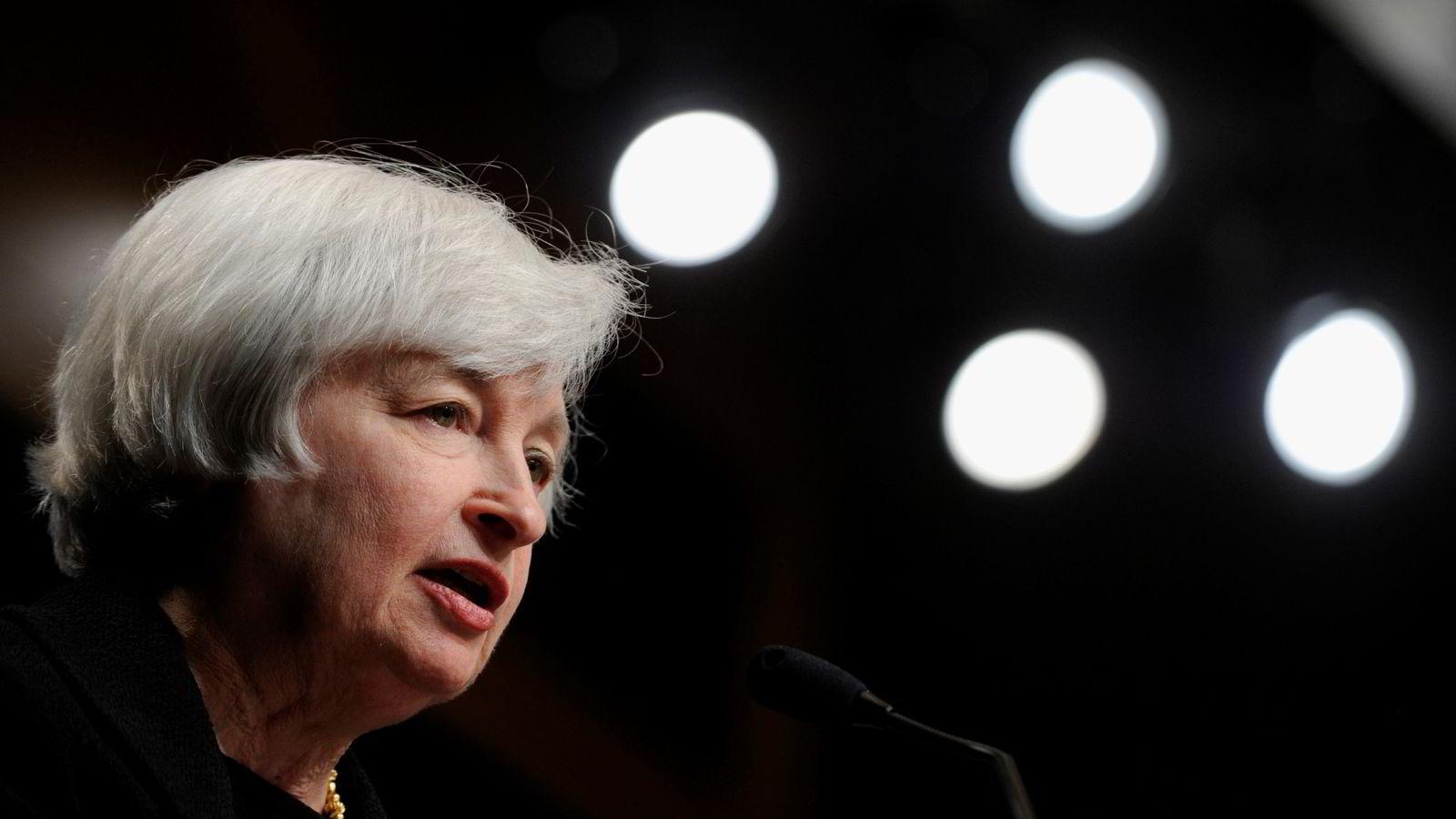Fed-sjef Janet Yellen. Foto: AP Photo/Susan Walsh.