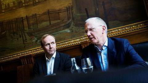 Storebrand-forvaltere Hans Thrane Nilsen (til venstre) og Alf Inge Gjerde.