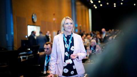 Sylvi Listhaug, her på et Frp-landsmøte, har latt seg inspirere av Danmark.