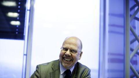 DNB-direktør og nestleder i Nets-styret Leif Teksum er tilfreds med salget av Nets. (Arkivbilde). FOTO: Per Thrana