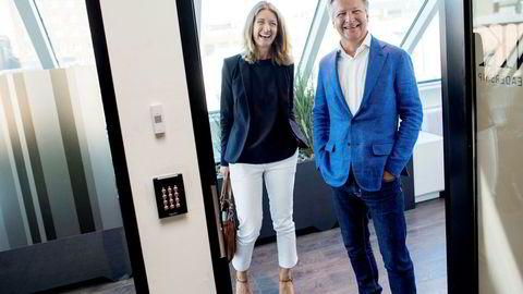 Zynk satt igjen med pr-bransjens beste resultat i fjor – med snaue 20 millioner kroner inn før skatt. Her daglig leder og partner Anniken Haugen Jebsen og styreleder og partner Claus Sonberg.