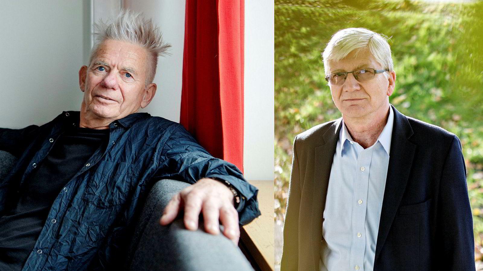Kalle Moene (til venstre) liker ikke nyregning og nytale, og åpenbart heller ikke nytenkning, skriver samfunnsøkonom Steinar Juel.