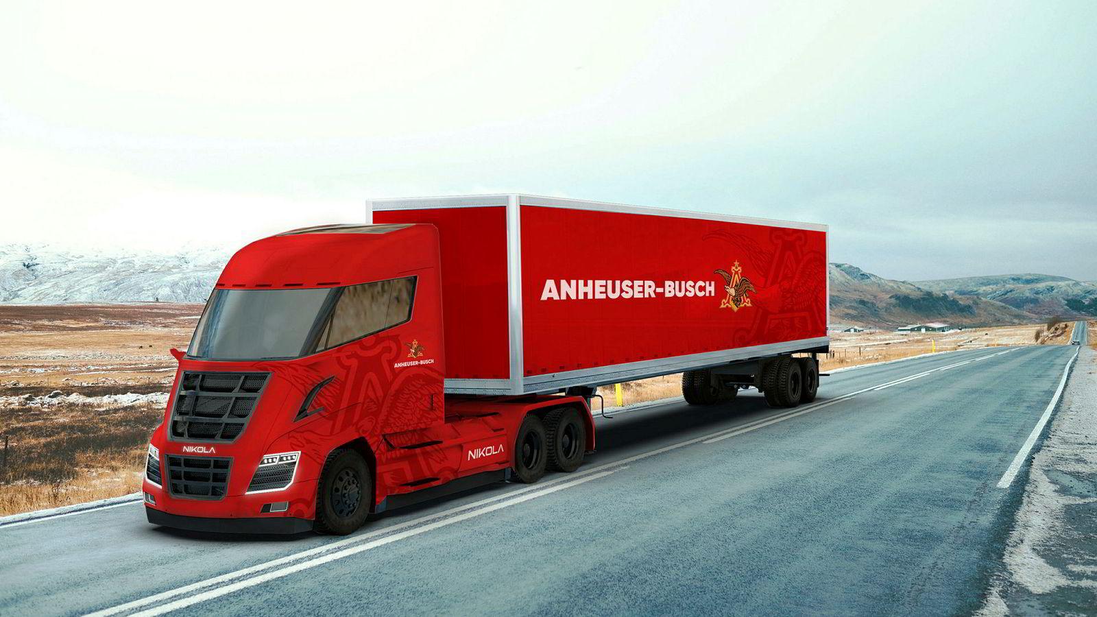 I mai bestilte det amerikanske ølkonsernet Anheuser-Busch 800 hydrogenlastebiler fra Nikola. Ordren kan gi Nel inntekter på fire milliarder kroner.