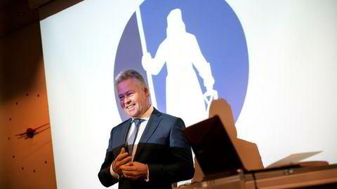 Konsernsjef Helge Leiro Baastad i Gjensidige kan glede seg over knallresultater etter årets første tre måneder.
