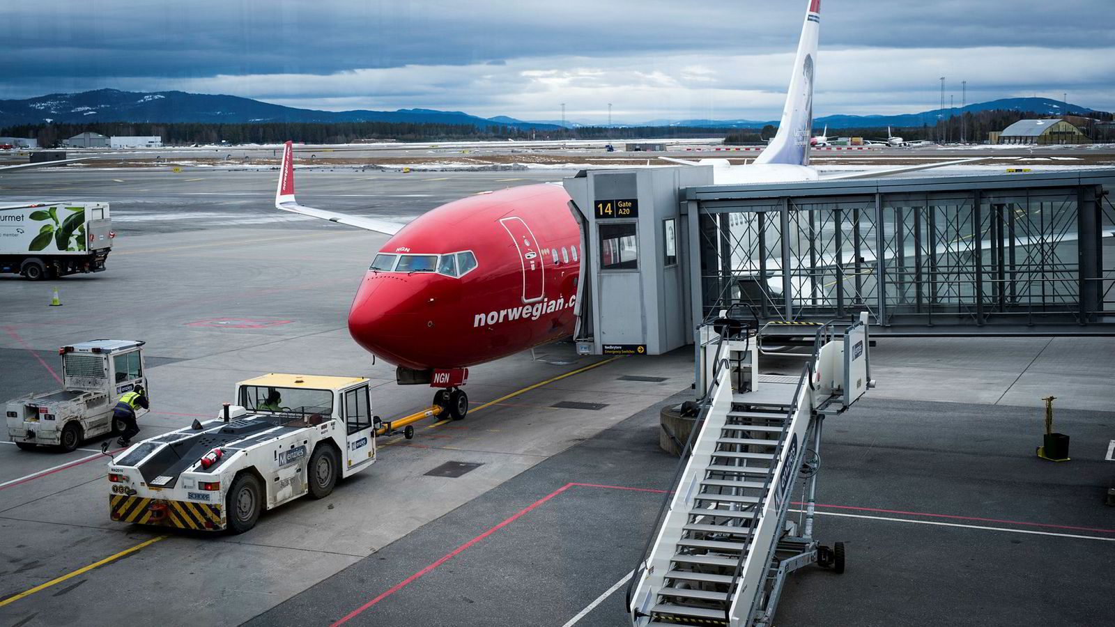 Et Norwegian-fly på Gardemoen. Ifølge Ryanairs sjef sliter selskapet.