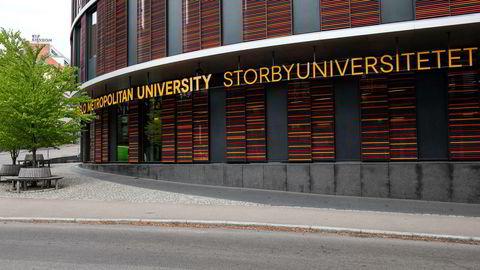 Heftig krangel om nye skilt ved Oslomet storbyuniversitetet.