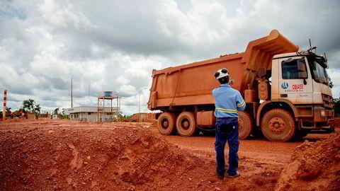 Halveringen av produksjonen ved Hydros Alunorte-anlegg har tvunget Hydro til å også halvere produksjonen ved bauksittgruven Paragominas (avbildet)