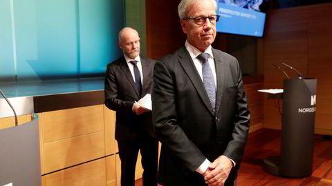 Sentralbanksjef Øystein Olsen presenterte hovedstyrets rentebeslutning torsdag i Norges Bank.