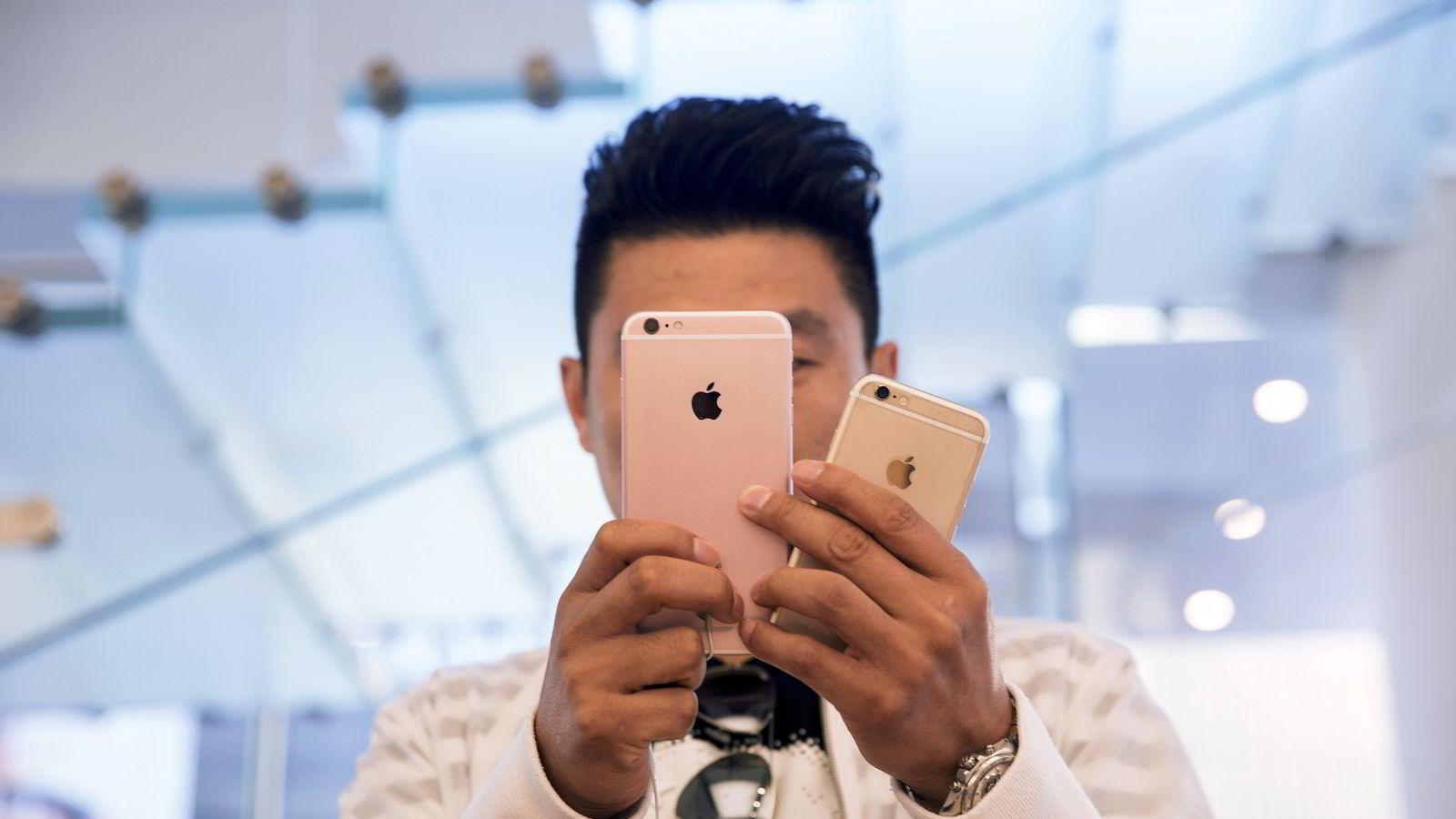 Apple går tøffere tider i møte i Kina. Foto: Damir Sagolj/Reuters/NTB scanpix