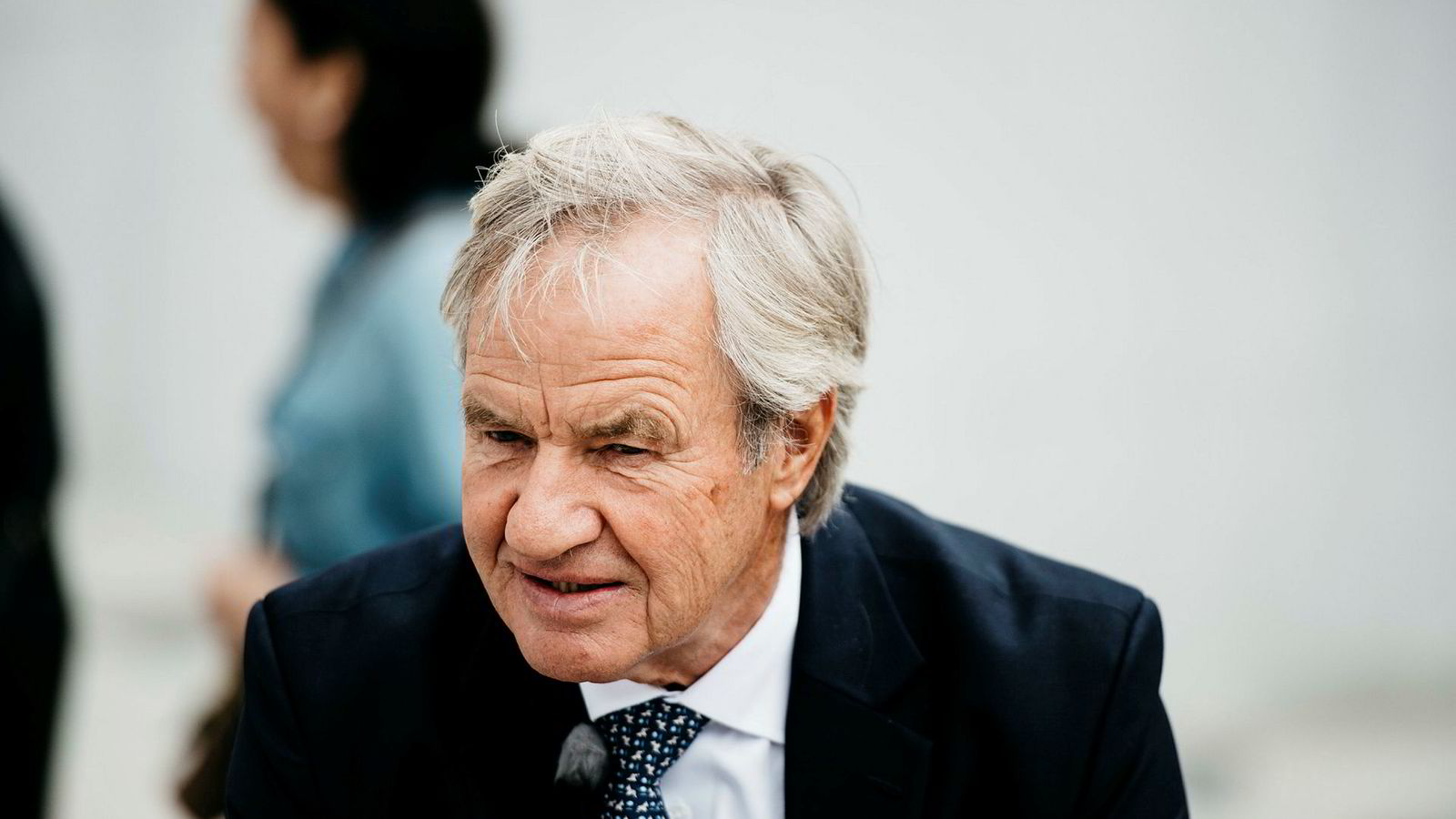 Bjørn Kjos, Norwegian-sjef. på ACI kongressen i Brussel Foto: Fartein Rudjord