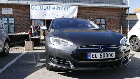 Norsk Elbilforening markerte allerede i vår elbil nummer 50.000 på norske veier. Foto: Gorm Kallestad /