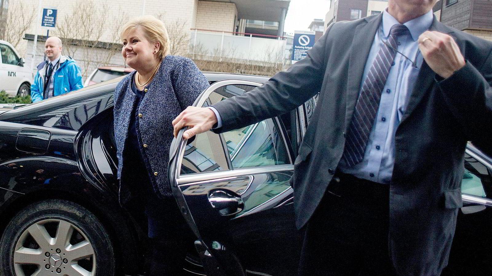 Statsminister Erna Solberg dro til Nydalen denne uken for å bedre stemningen mellom samarbeidspartiene.