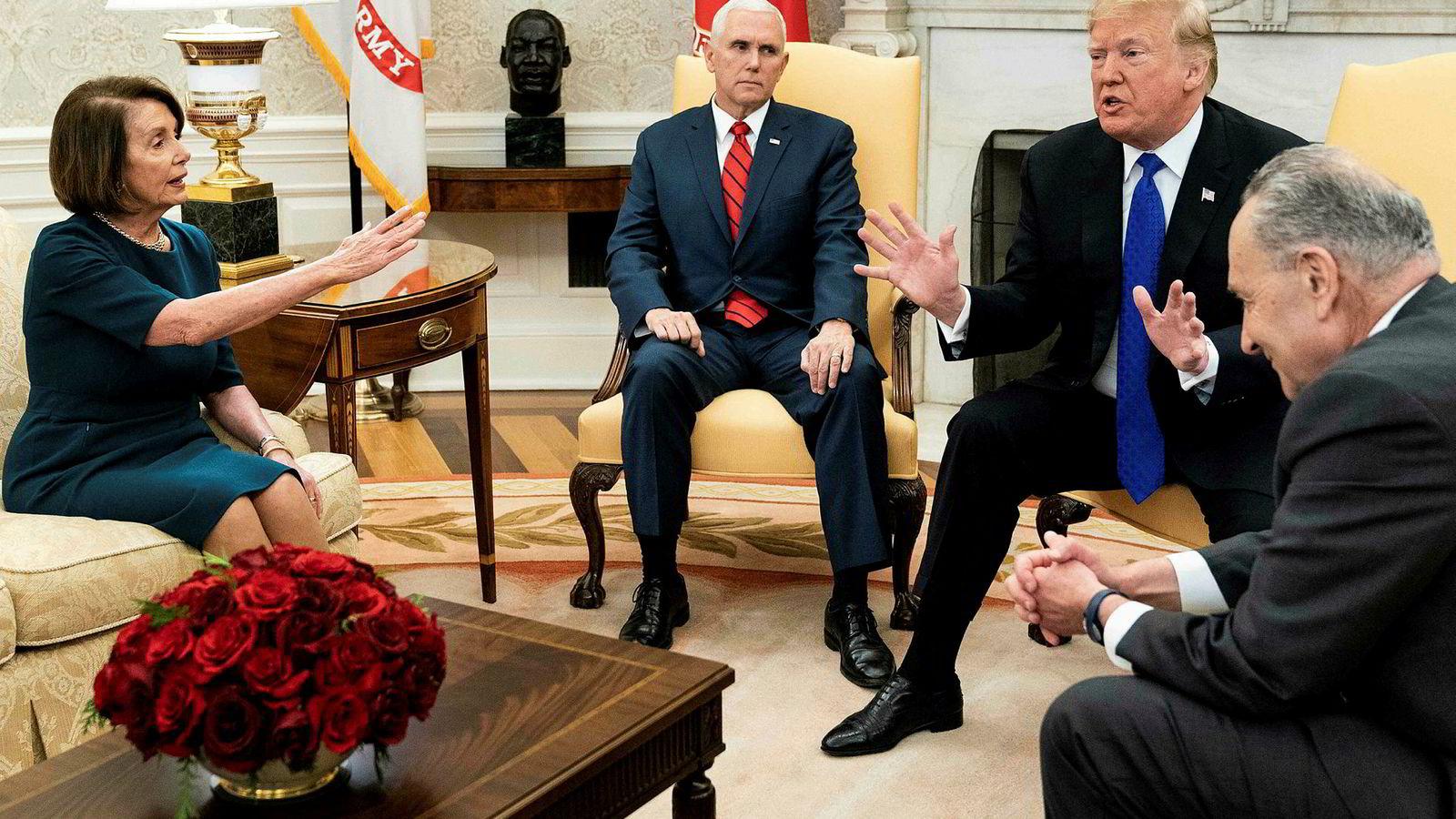 a8e3c849 Nancy Pelosi ble hyllet, særlig av sine tilhengere, etter det famøse møtet  med president