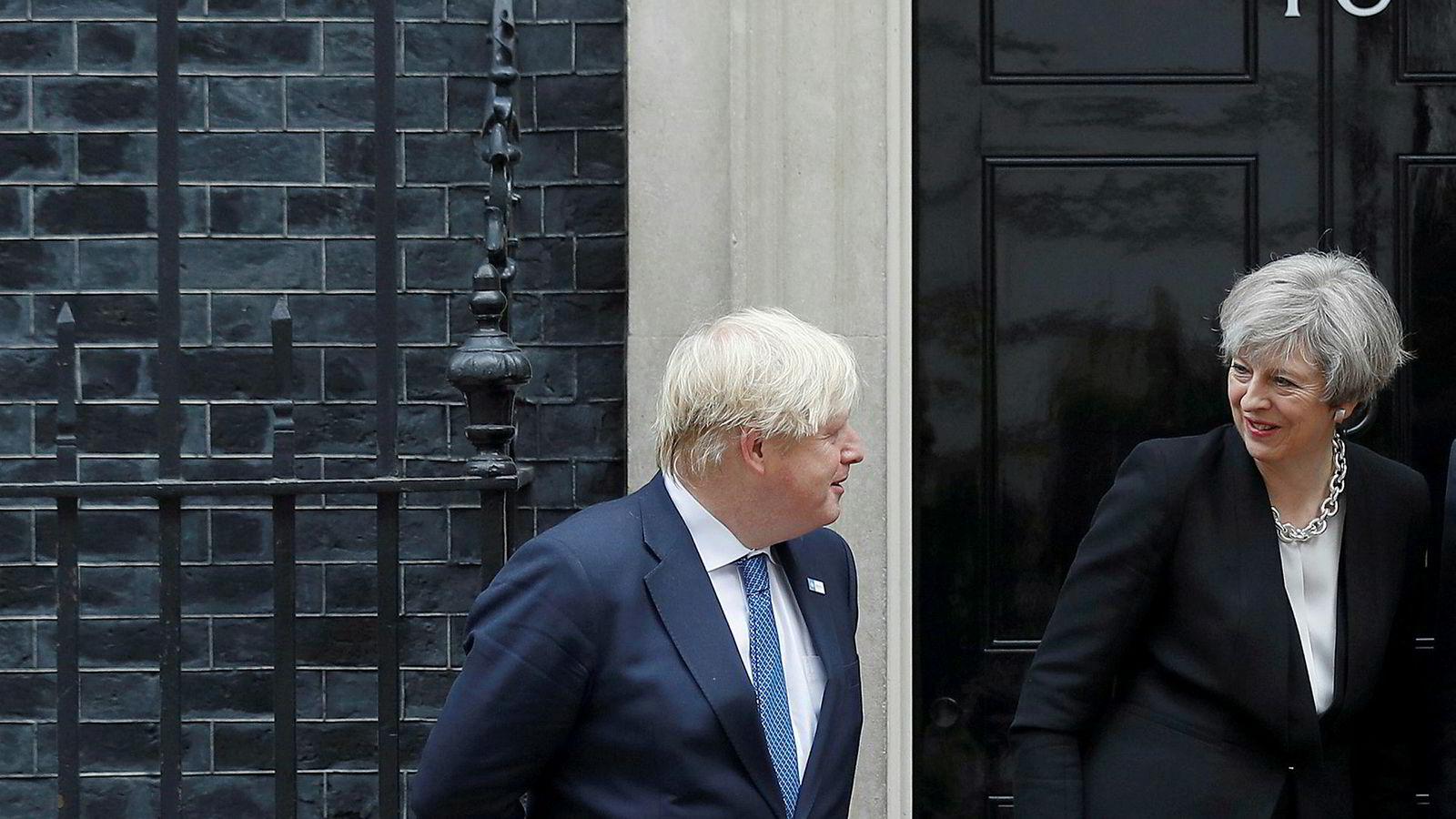 Boris Johnson ligger best an til å etterfølge Theresa May som statsminister.