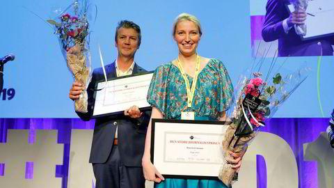 Den store journalistprisen 2019 gikk til Frank V. Haugsbø, Mona Grivi Norman og Maria Mikkelsen. Sistnevnte var ikke til stede under utdelingen.