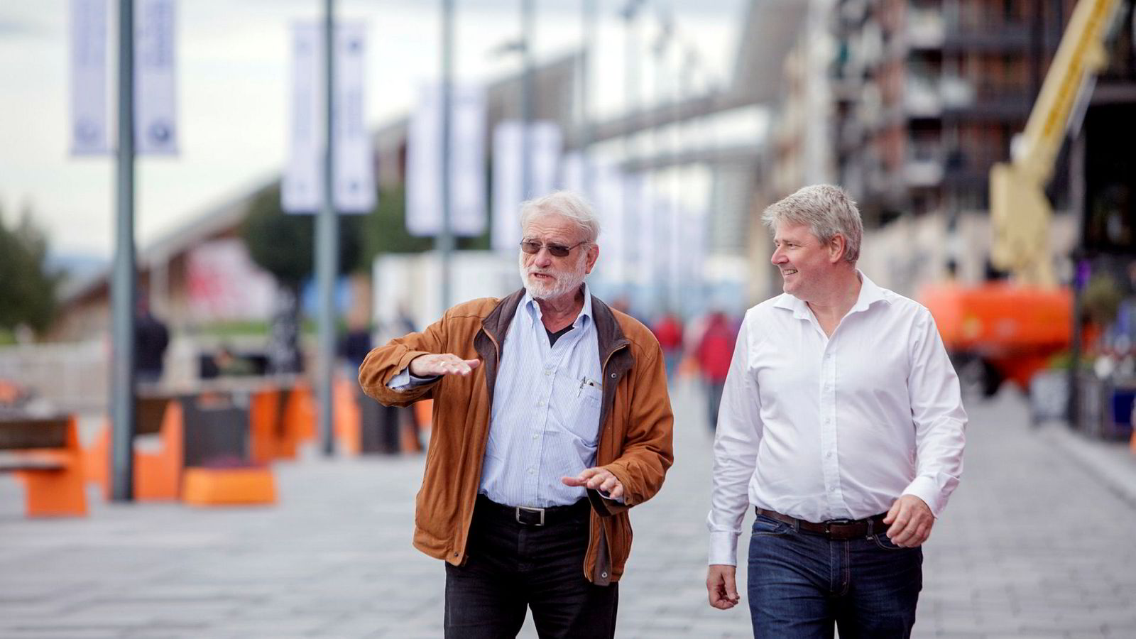 Styreleder Terje Mikalsen og administrerende direktør Richard Espeseth i Hydrogenpro har fått storkontrakt med franske H2V Industry.