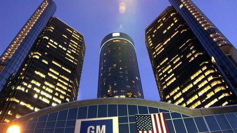 NY KRISE: Hovedkvarteret til General Motors i Detroit USA. Pressefoto: Øivind Skar