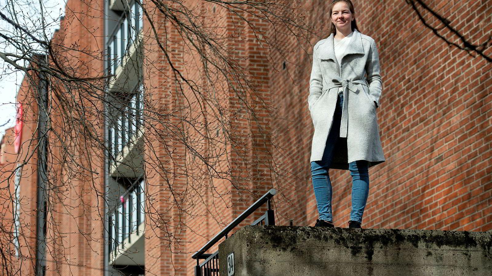 Siv Fredriksen Kaarstad går førsteåret på OsloMet bachelor byggingeniør. Nå har hun fått plass i bokollektivet til AF Gruppen.