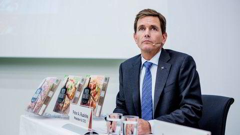 DNB har tro på Orkla-topp Peter Ruzicka og selskapet han leder. Foto: Fredrik Bjerknes