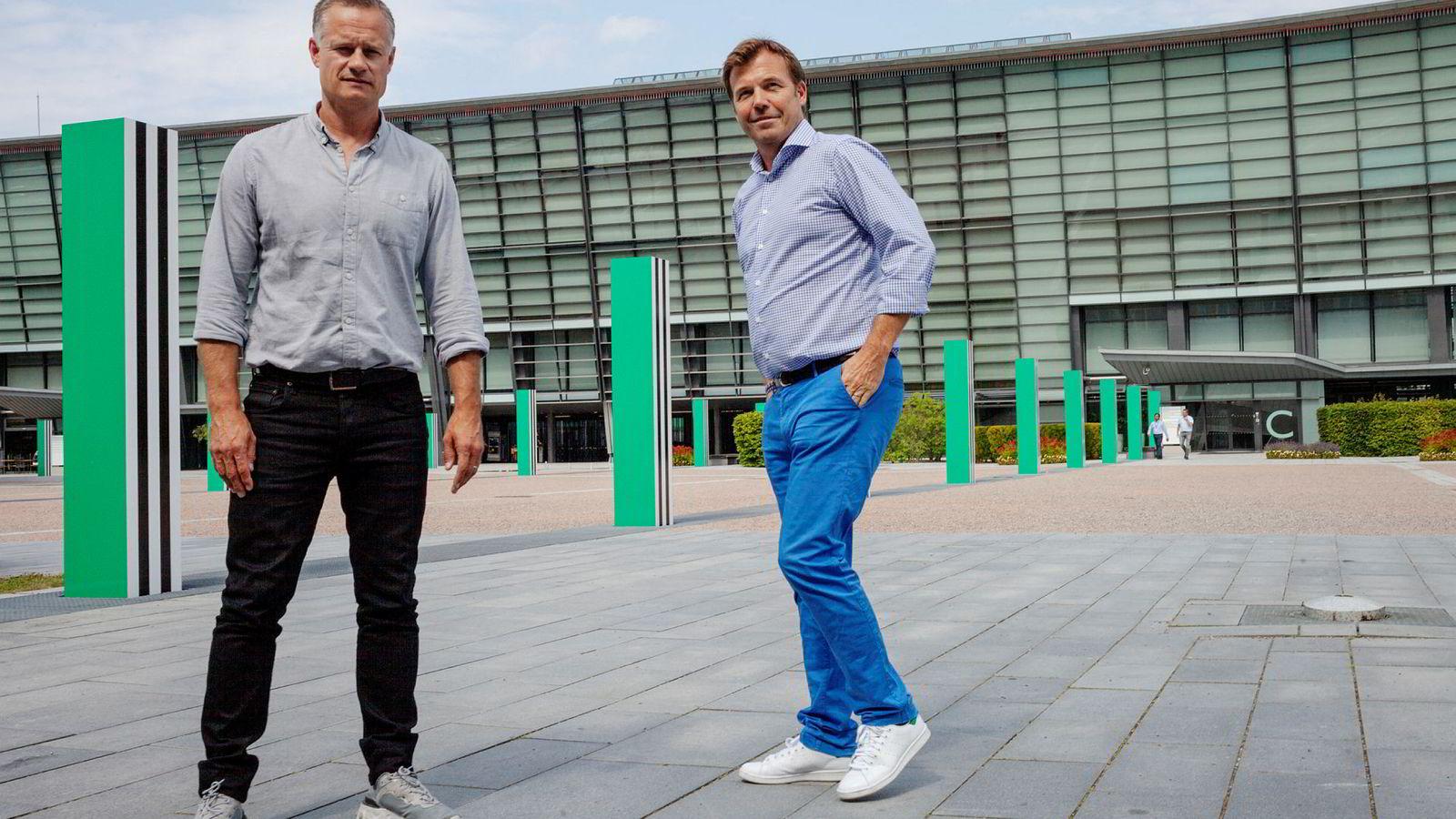 – Målet vårt er å passere én milliard i omsetning i løpet av 2020, sier Gelato-sjef Henrik Müller-Hansen (til venstre). Her sammen med medgründer Pål T. Næss.