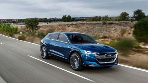 Audi E-tron Quattro Concept er basis for Audi E-tron, som blir den første elbilen fra Audi, i produksjon i 2018.