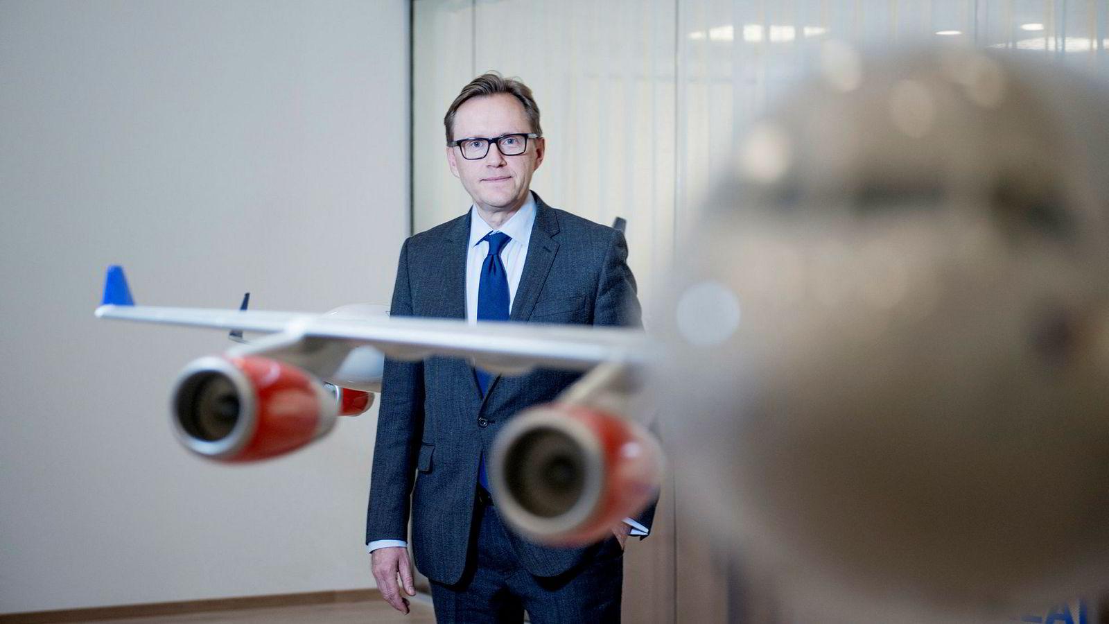 Finansdirektør Torbjørn M. Wist i SAS sier at det er «vanskelig å ikke være fornøyd» når flyselskapet leverer et av de beste resultatene i historien.