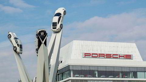 Påtalemyndigheten gjennomførte tirsdag razzia blant annet her i Porsches hovedkvarter i Stuttgart.