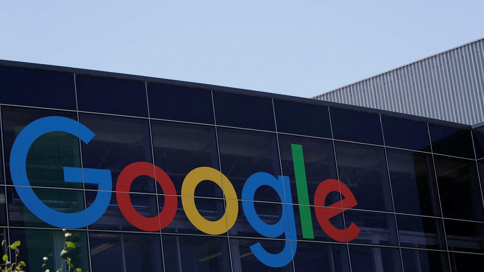 Googles amerikanske selskap får bot. Her fra hovedkontoret i California.