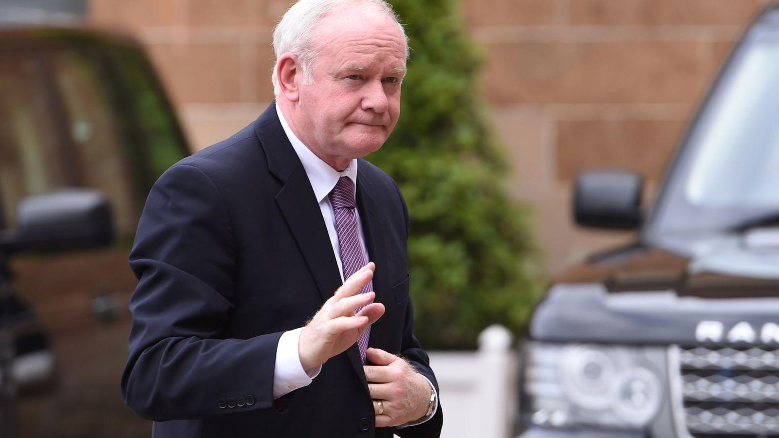 Nord-Irlands viseførsteminister, Martin McGuinness. Foto: Clodagh Kilcoyne/