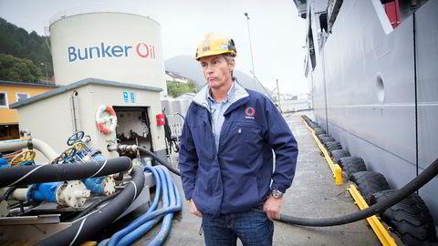 Jan Magnus Kleven, er sjef og eier i Bunker Oil. Her fra anlegget i Ålesund.
