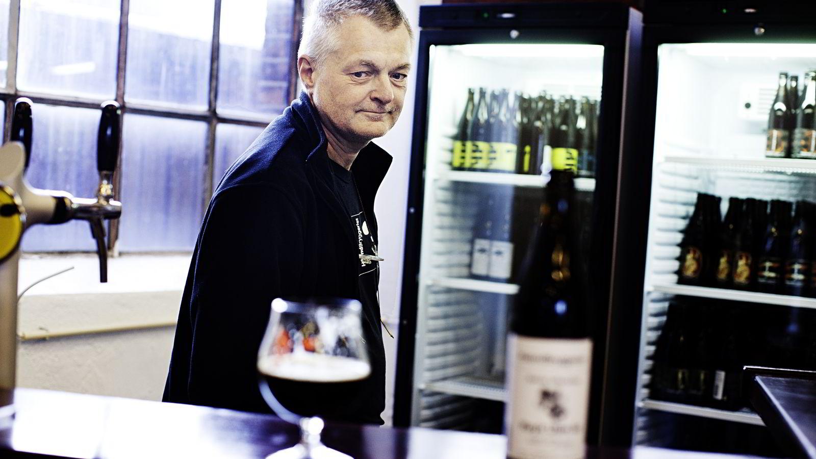 Drammen, Norge, 12.12.2011, Jens Maudal bryggerisjef. Haandbryggeriet i Drammen er et vellykket mikrobryggeri. Foto: Per Thrana
