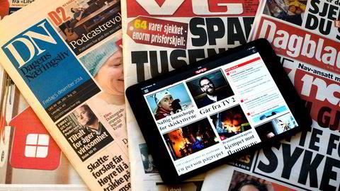 Avisene på 1-2-3 Foto: Per Ståle Bugjerde