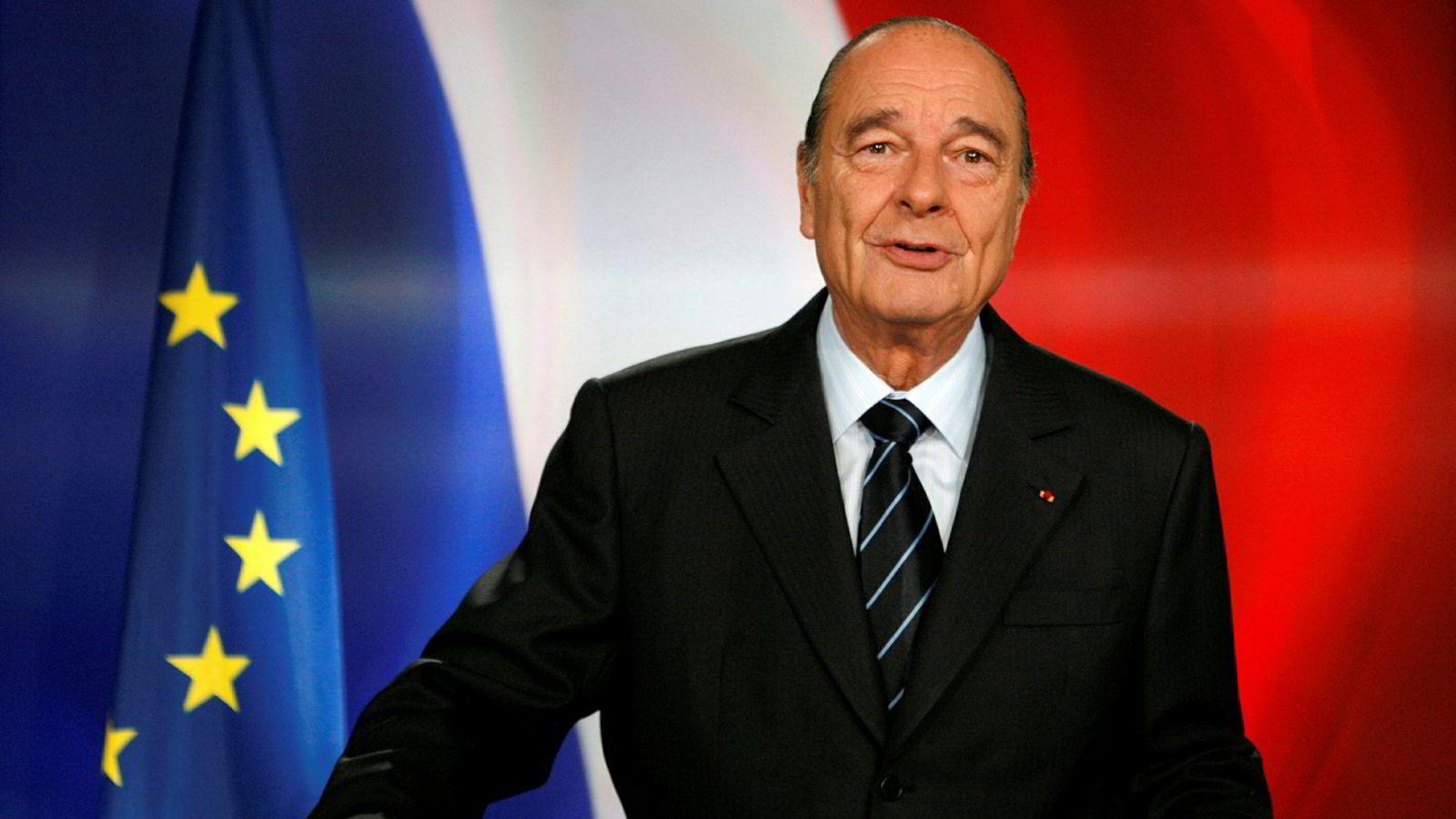 Jacques Chirac var president i Frankrike fra 1995 til 2007. Han ble etterfulgt av Nicolas Sarkozy.