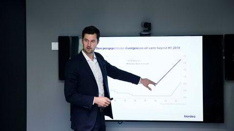 Joachim Bernhardsen, analytiker i Nordea Markets, mener det egentlig ikke er så mye som har forandret seg siden det amerikanske aksjemarkedet nådde bunnen i romjulen.