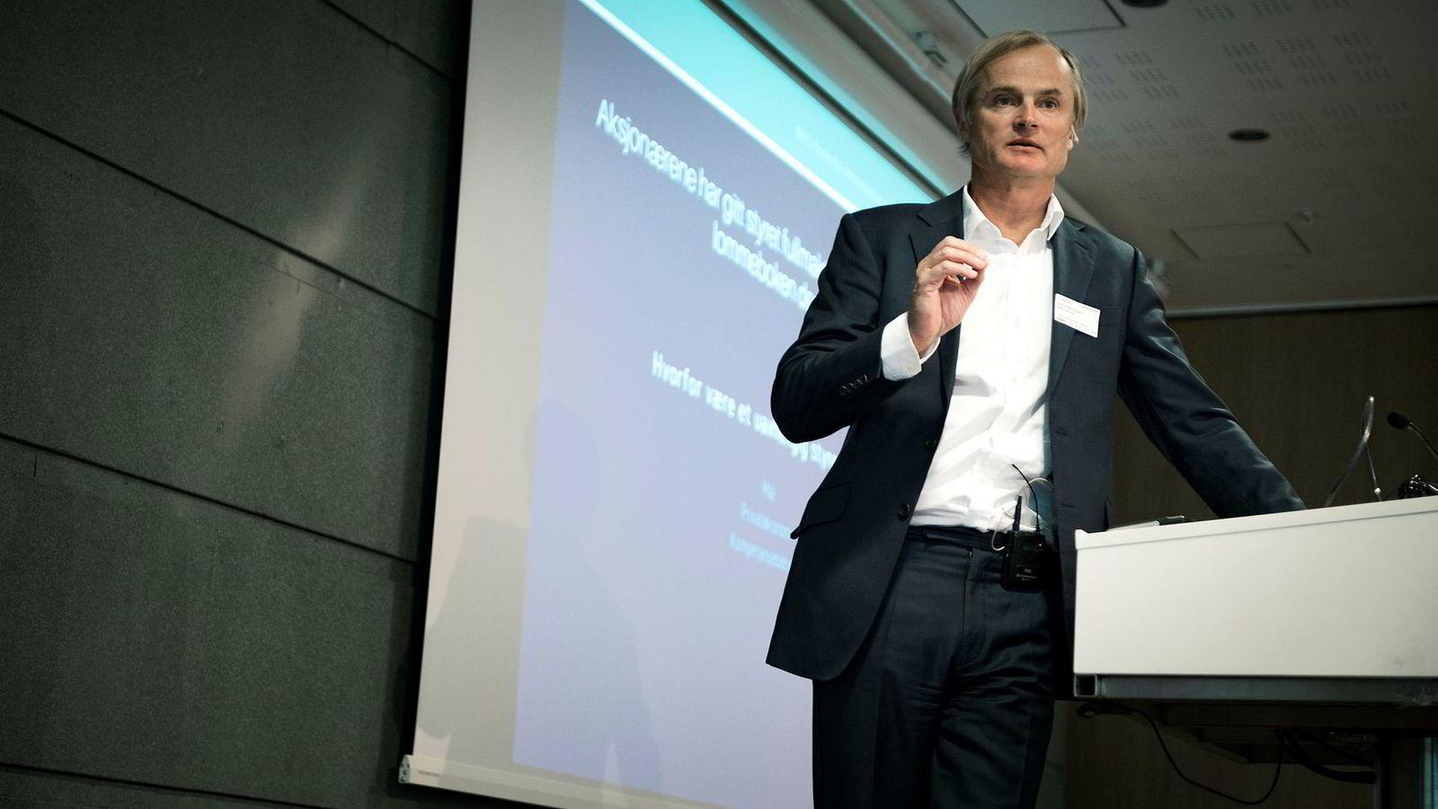 Øystein Stray Spetalens energirådgiver Torbjørn Kjus måtte gå av etter bare ti måneder i jobben i forrige uke.
