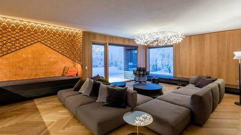 Interiørbilde av Einar Aas' luksushytte.