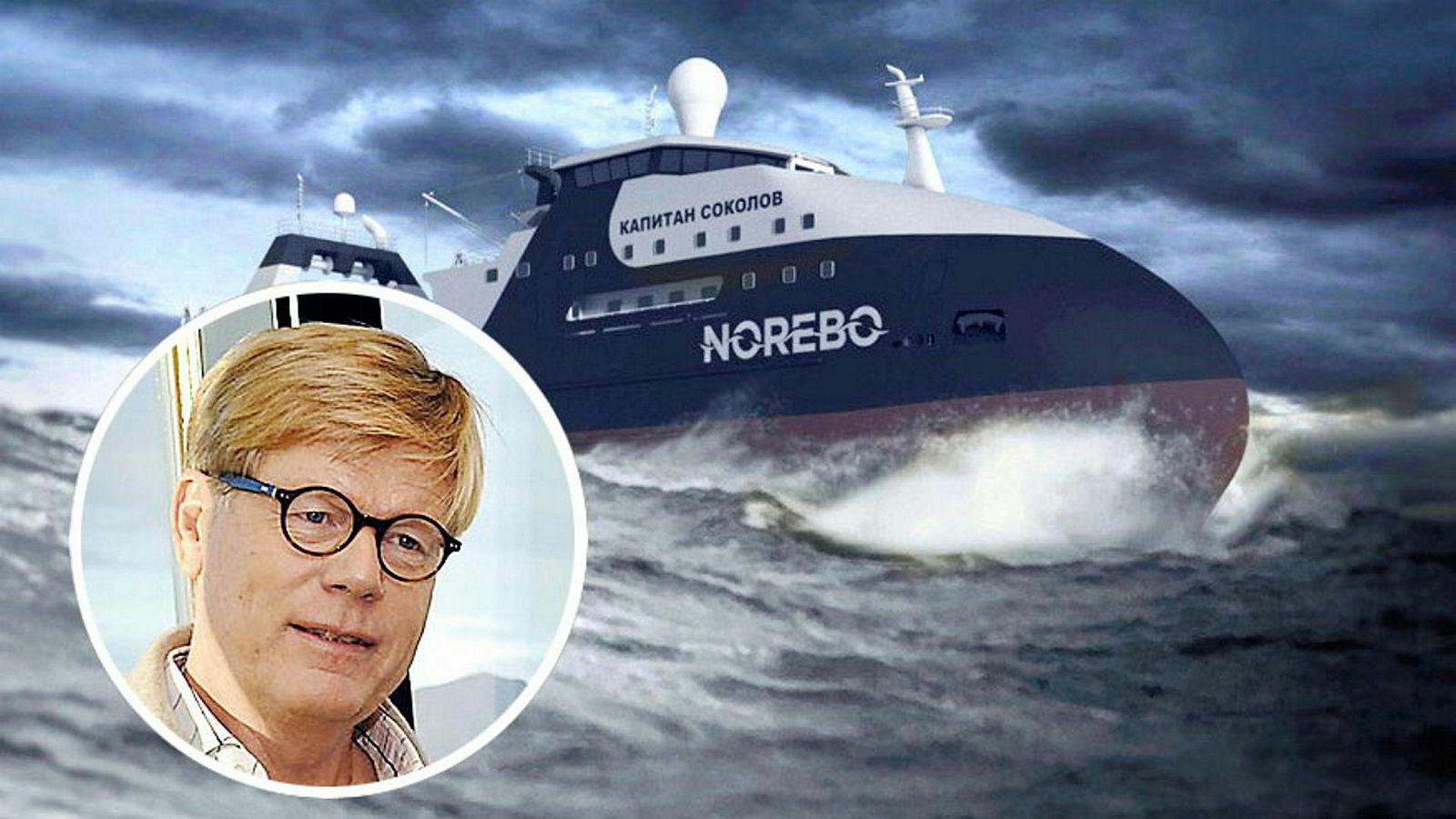 Eierskapet i fiskerigiganten Norebo står sentralt i en internasjonal rettsføljetong som involverer milliardæren Magnus Roth. Han er en betydelig investor i norsk næringsliv. Skipet «Kaptein Sokolov» skal være ferdig neste år.