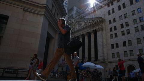 New York-børsen på Wall Street. Foto: Kena Betancur / Getty Images / AFP / NTB SCANPIX