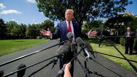 President Donald Trump sa utenfor Det hvite hus onsdag at han er «den utvalgte» til å føre handelskrigen mot Kina
