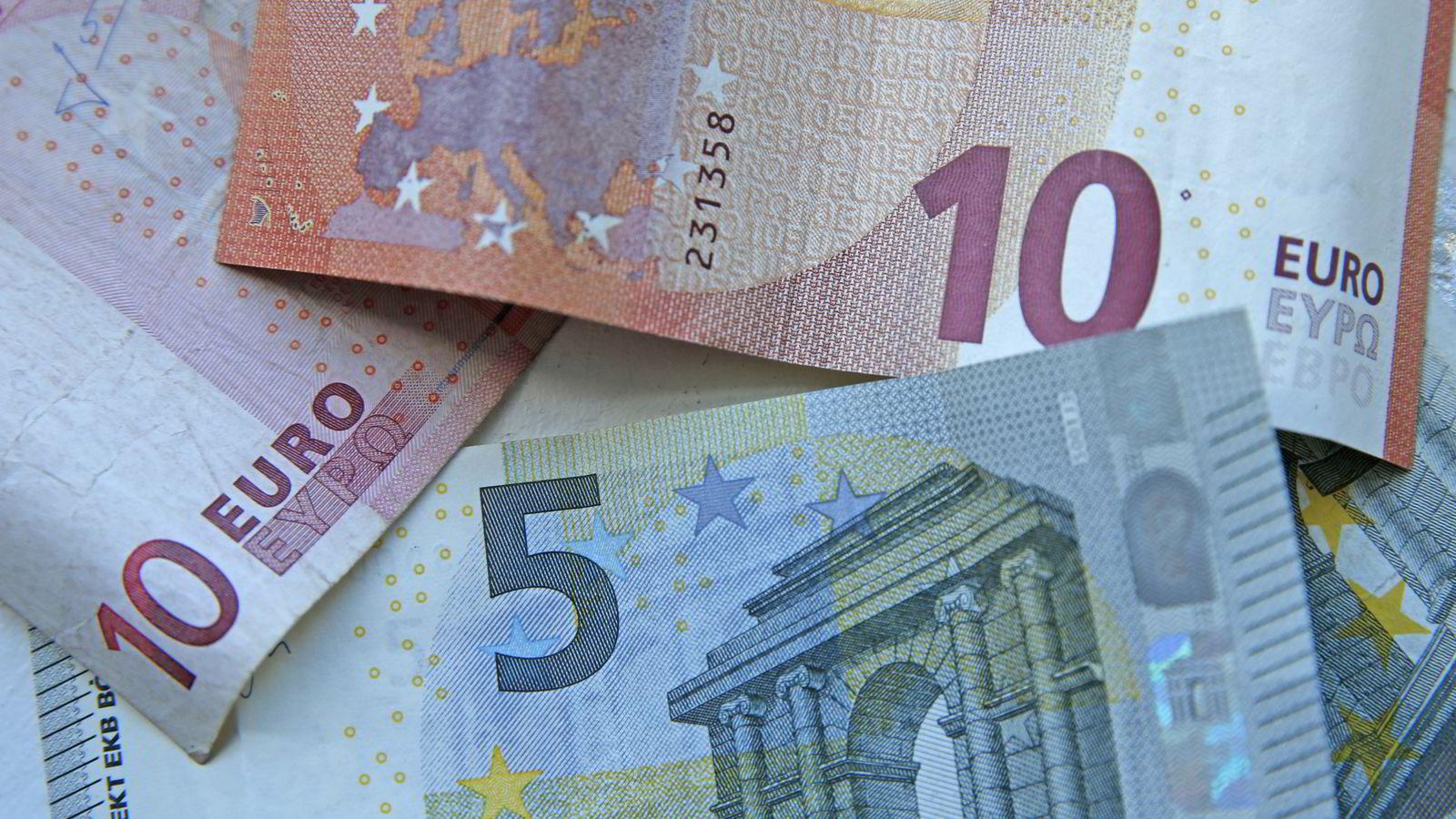 Veksle euro til danske kroner