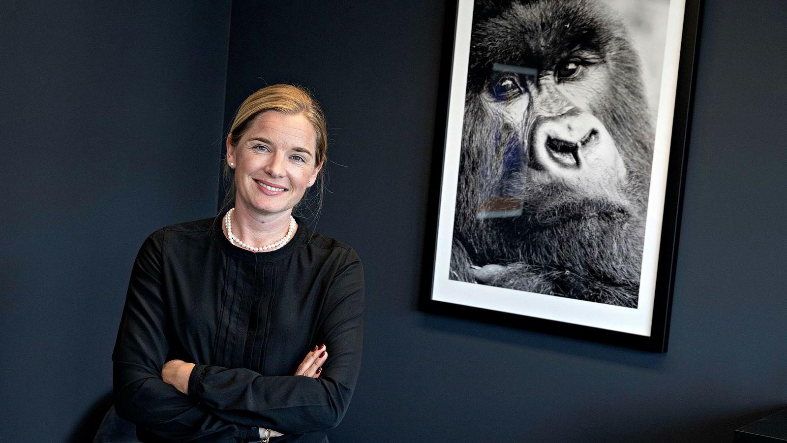 Kine Burøy-Olsen (41) en av toppene i Cubera Private Equity som snakker om den lave kvinneandelen i PE-bransjen.
